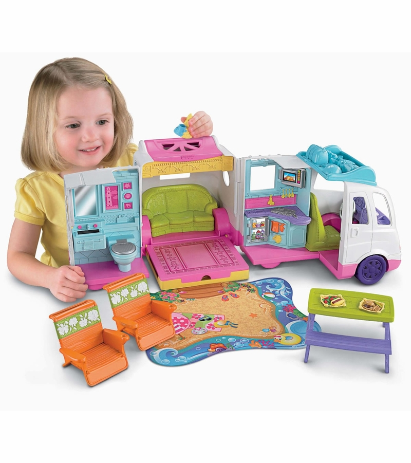 Beach Toys For Girls : Fisher price loving family beach vacation mobile home