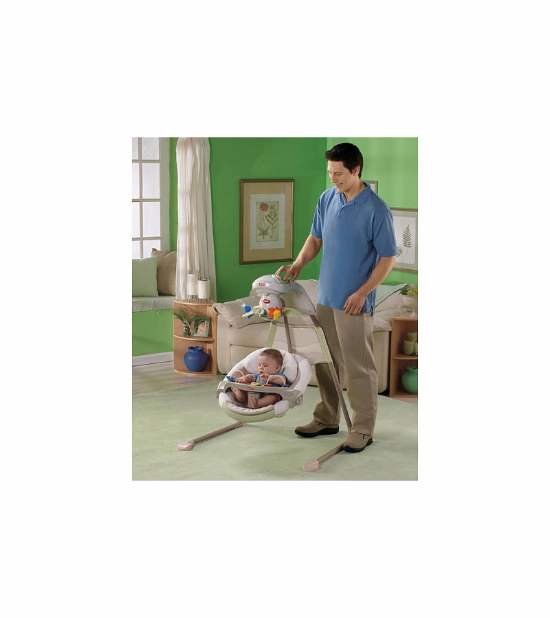 fisher price natures touch baby papasan cradle swing rh albeebaby com Fisher-Price Little People Little Tikes