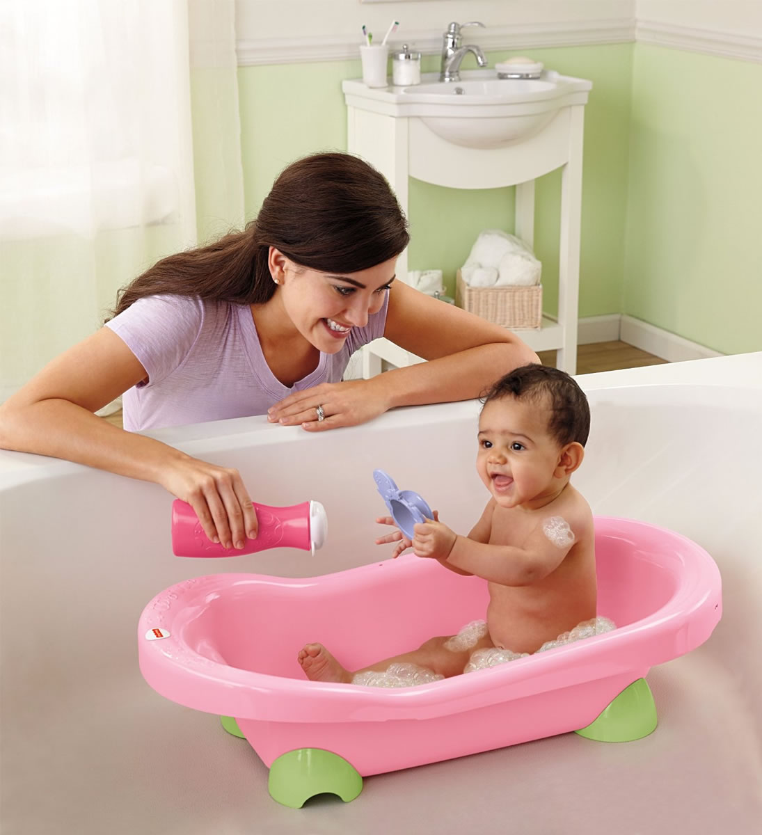 fisher price pretty in pink hippo tub. Black Bedroom Furniture Sets. Home Design Ideas