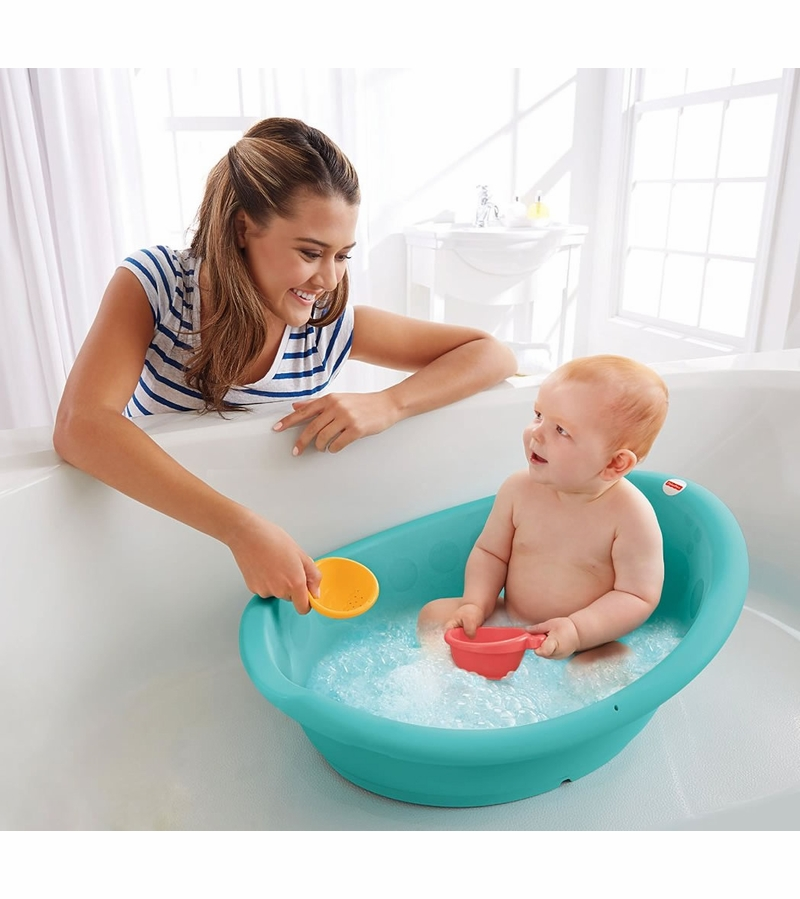 baby bath tub price at jet cleanwater infant tub w thermometer splish n splash blue plastic. Black Bedroom Furniture Sets. Home Design Ideas