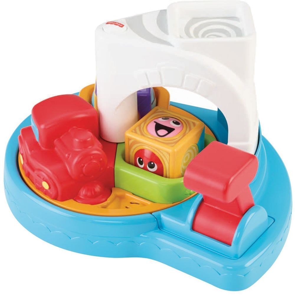Fisher Price Roller Blocks Whirlin Train Town Baby Block Item Cdc13