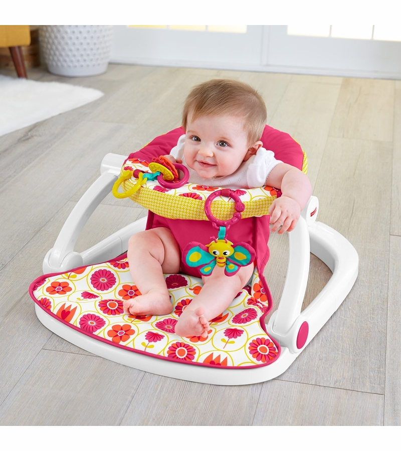 Fisher price sit me up floor seat girl for Toddler sitting chair
