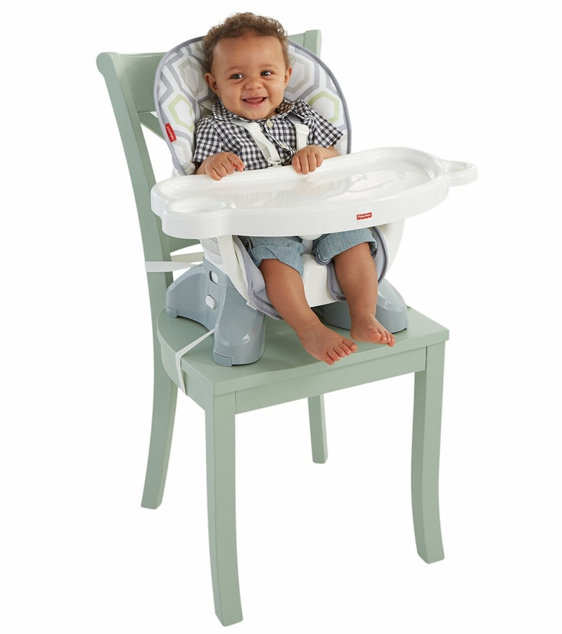 High Chair Toy Holder : Fisher price spacesaver high chair geo meadow