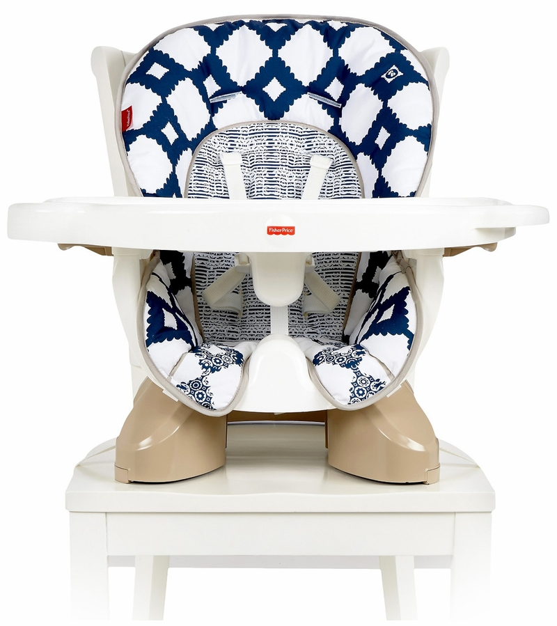 Fisher Price Spacesaver High Chair Navy