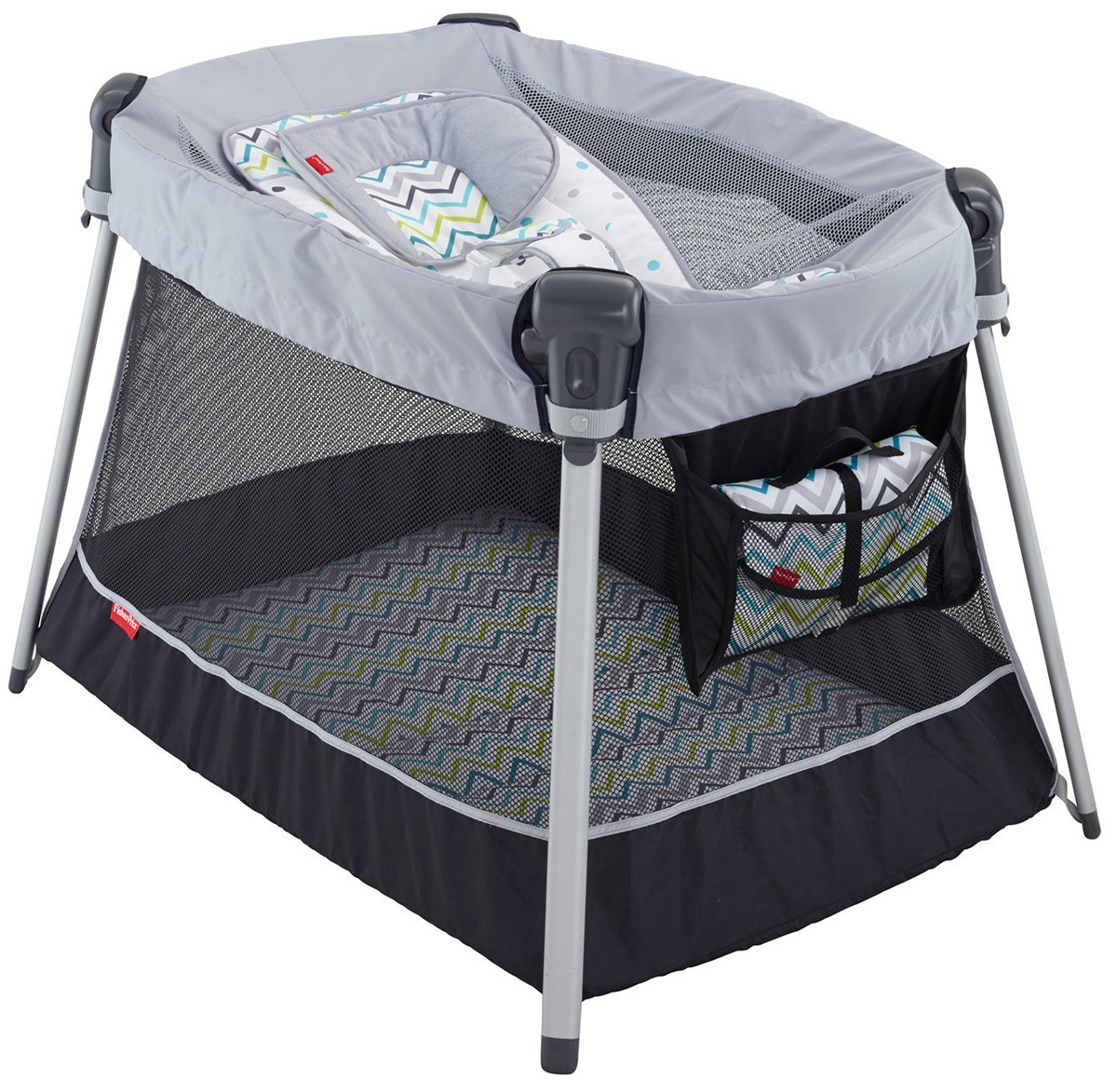 Fisher Price Ultra-Lite Day & Night Play Yard - Chevron F...