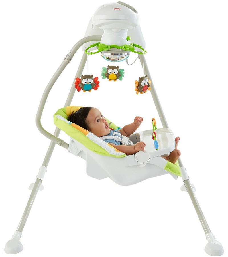 Fisher price woodland friends cradle 39 n swing d for Baby garden swing amazon