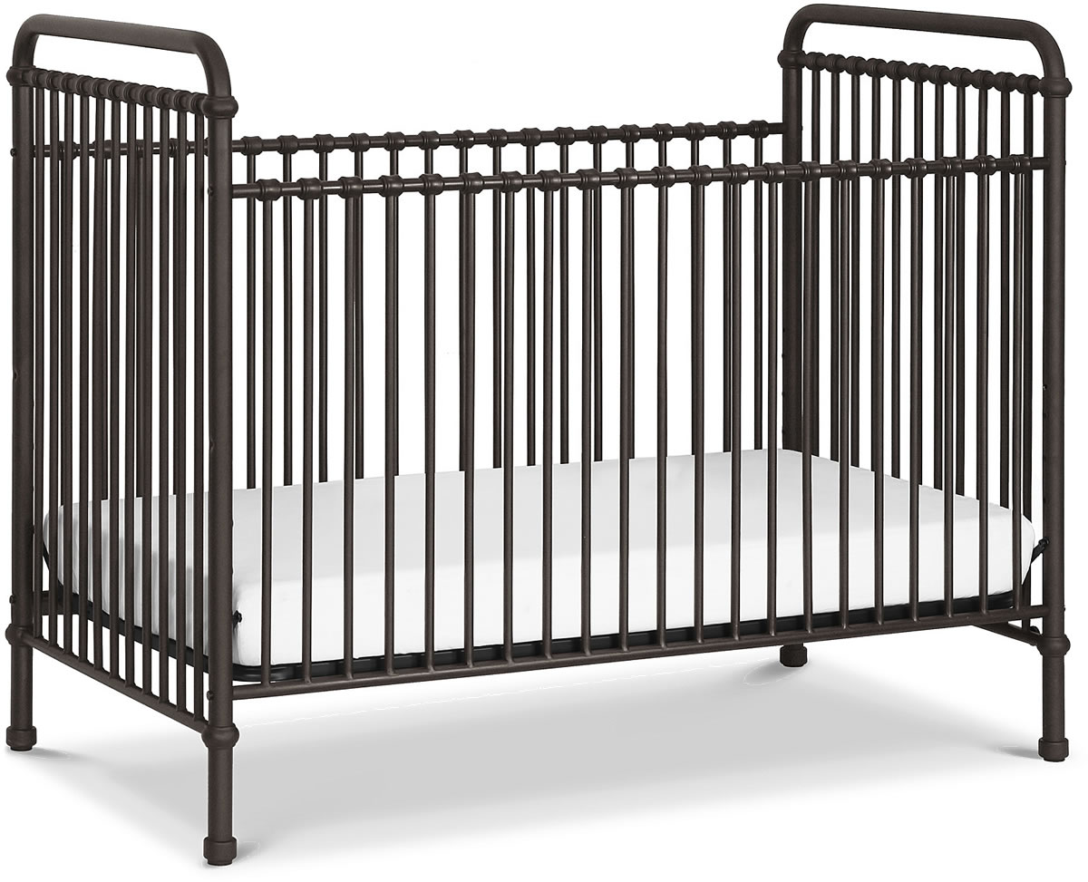 F&B Abigail 3-in-1 Convertible Crib - Vintage Iron