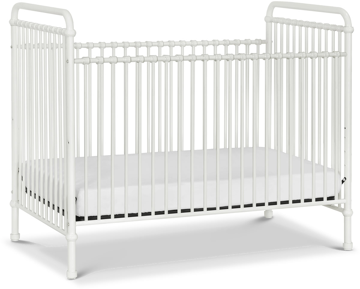 F&B Abigail 3-in-1 Convertible Crib - Washed White