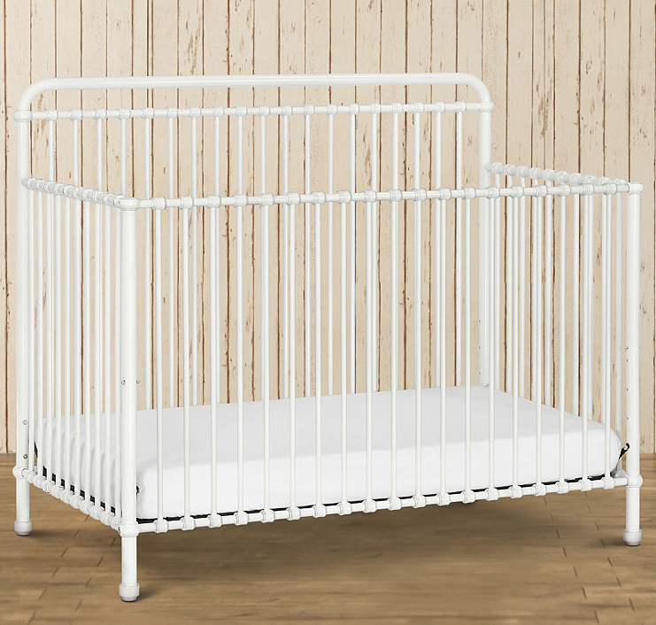 F&B Winston 4-in-1 Convertible Crib - Washed White