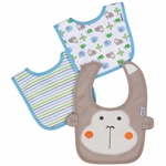 Gerber Boy 3 Pack Terry Dribbler Bibs