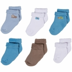 Gerber Boy 6 Pack Variety Socks - 0 to 3 Months