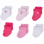 Gerber Girl 6 Pack Variety Socks - 3 to 6 Months