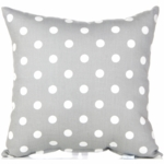 Glenna Jean Bella and Friends Throw Pillow - Grey Dot