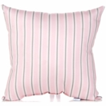 Glenna Jean Bella and Friends Throw Pillow - Pink Stripe
