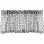 Glenna Jean Bella and Friends Window Valance - Grey Dot