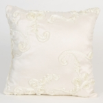 Glenna Jean Central Park Cream Ribbon Pillow