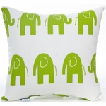 Glenna Jean Ellie & Stretch Throw Pillow - Green Elephant