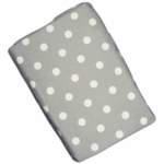 Glenna Jean Fitted Sheet in Grey Dot