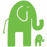 Glenna Jean Green Elephant Wall Decals - Set of 2