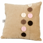 Glenna Jean Just Buggy Tan with Circles Pillow