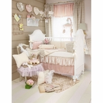 Glenna Jean Love Letters 3 Piece Crib Bedding Set