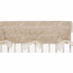 Glenna Jean Love Letters Convertible Crib Rail Protector - Long