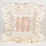 Glenna Jean Madison Mocha Dot with Ruffle Pillow