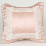 Glenna Jean Madison Pink with Lace Pillow