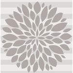 Glenna Jean Wall Decal - Grey Flower