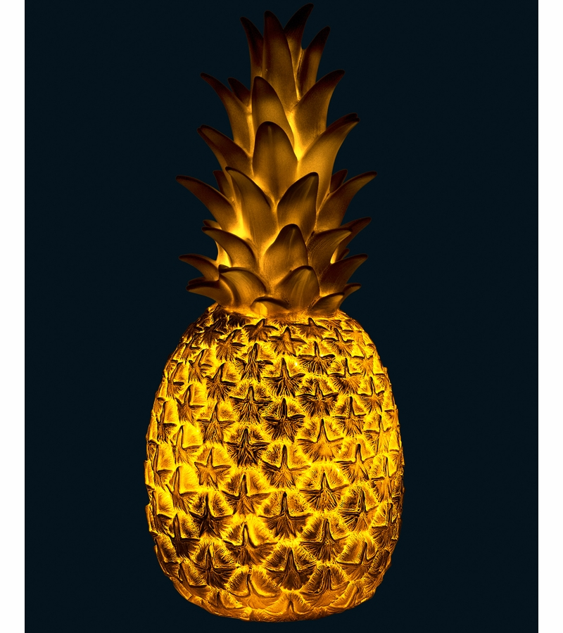 item 121gold - Pineapple Lamp