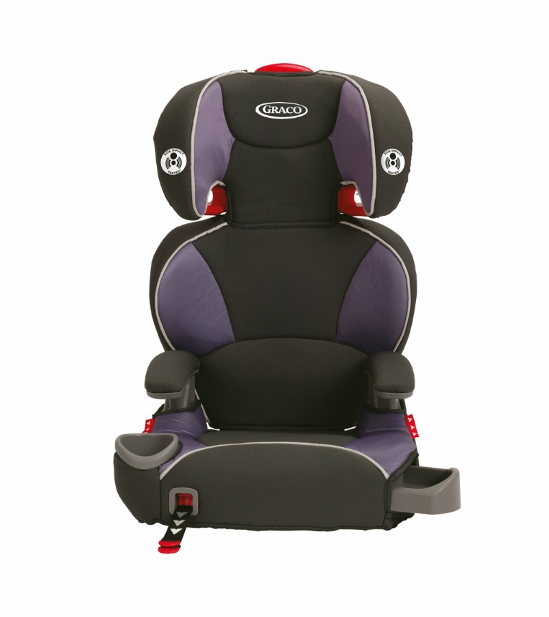 graco affix highback booster car seat with latch system grapeade. Black Bedroom Furniture Sets. Home Design Ideas