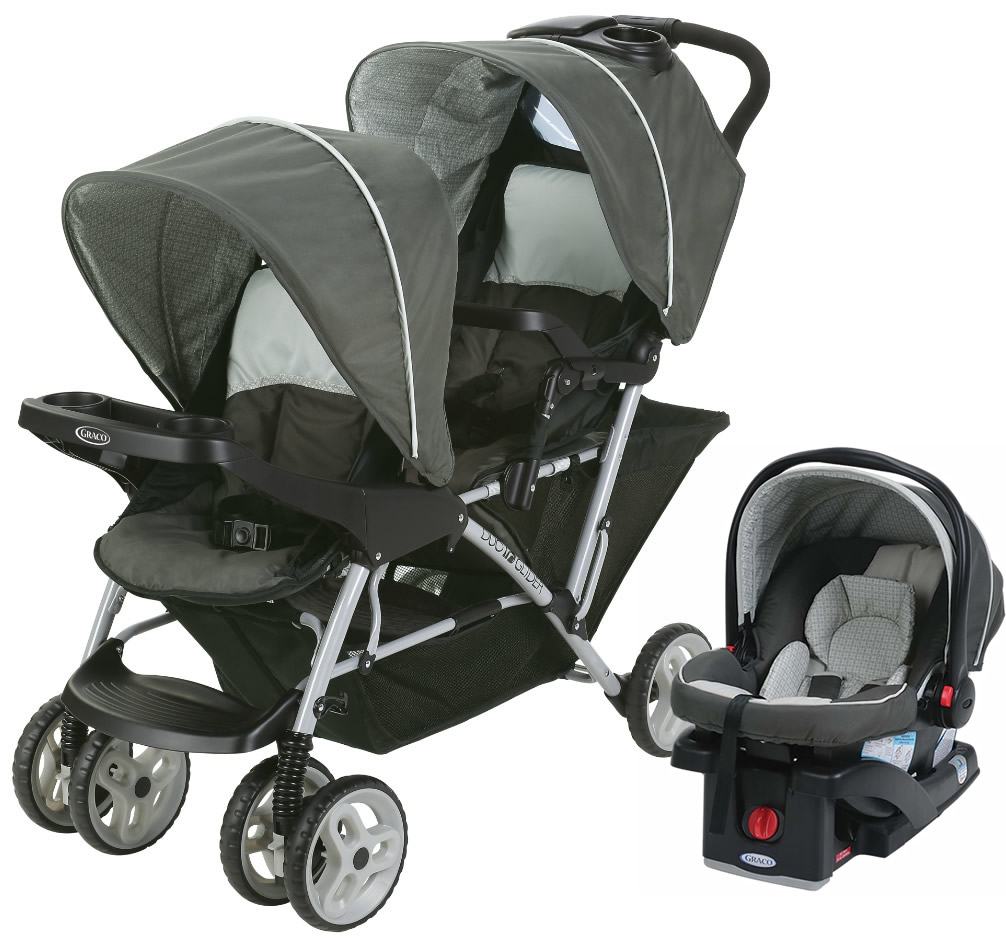 Graco DuoGlider Click Connect Double Stroller with Car Se...