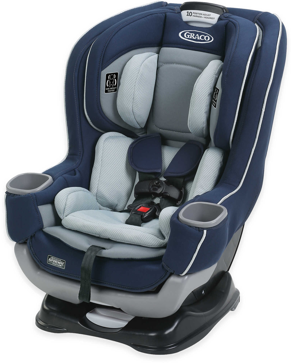 Graco Extend2Fit Convertible Car Seat featuring RapidRemove - Cadet
