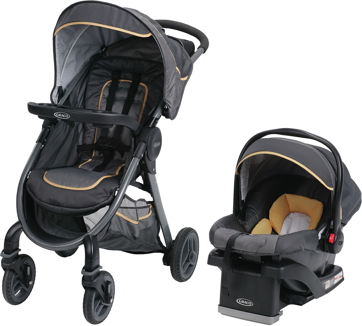 Graco FastAction 2.0 Click Connect Travel System - Sunshine