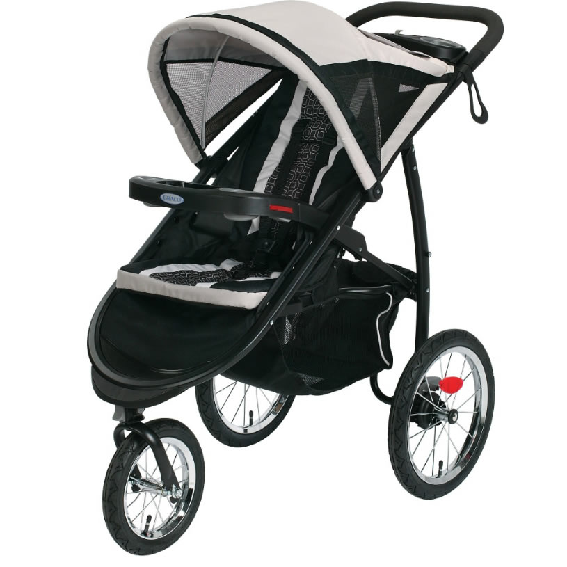 Graco FastAction Fold Click Connect Jogging Stroller - Pierce