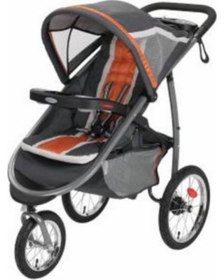 Graco FastAction Fold Jogger Click Connect Stroller Tangerine - 1934711