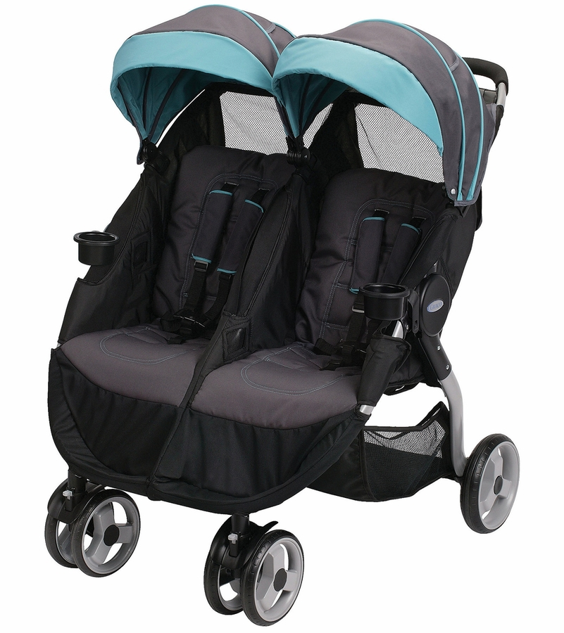 Graco Fastaction Fold Duo Click Connect Stroller Tidalwave
