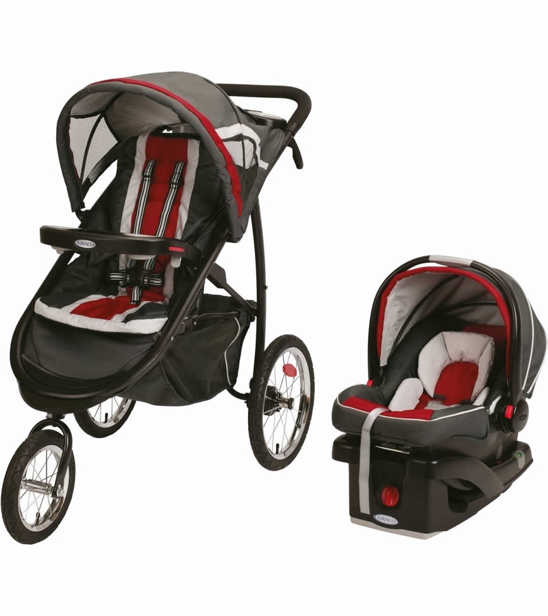graco fastaction fold jogger click connect travel system chili red. Black Bedroom Furniture Sets. Home Design Ideas