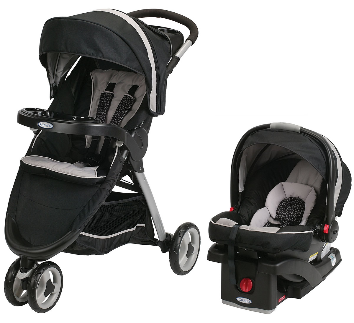 Graco FastAction Fold Sport Click Connect Travel System -...