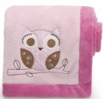 Graco Girl Woodland Embroidered Boa Blanket by KidsLine