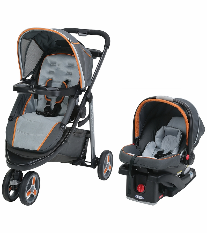 Graco Modes Sport Click Connect Travel System Tangerine