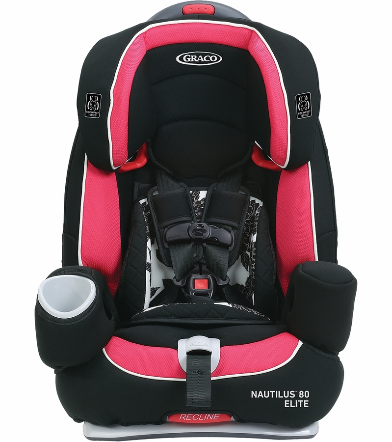 graco nautilus 80 elite 3 in 1 harness booster car seat azalea. Black Bedroom Furniture Sets. Home Design Ideas