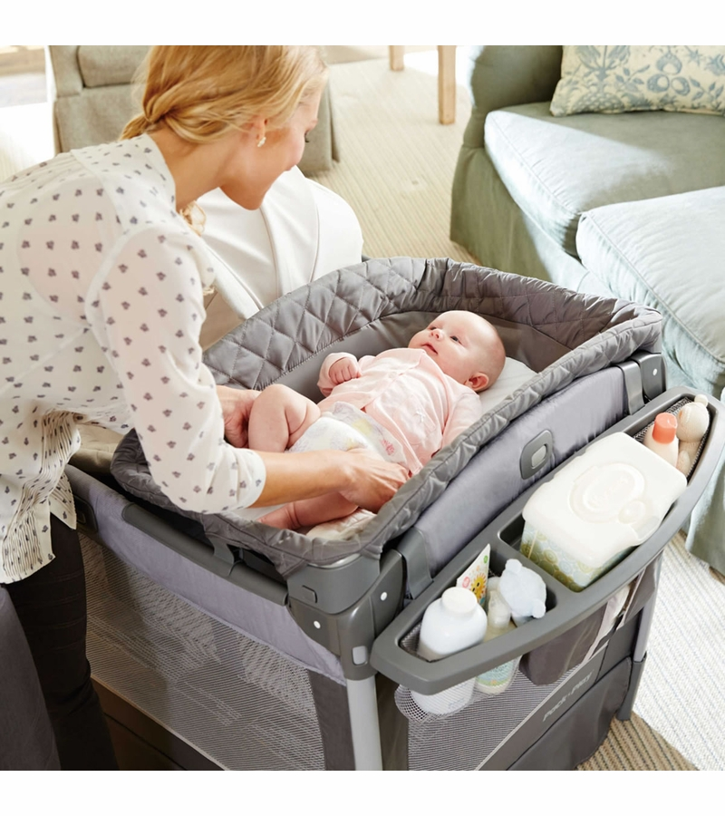 Graco Pack N Play Playard Newborn Napper Oasis With Soothe Surround