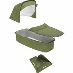 Greentom Carrycot Fabric & Mattress Set - Olive