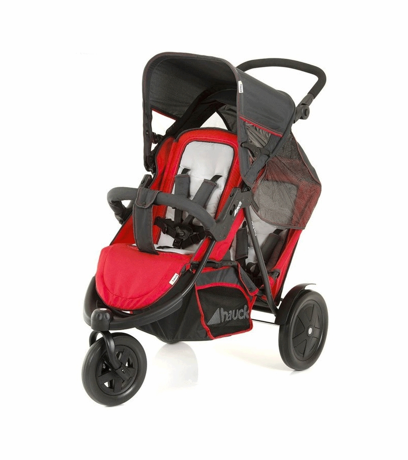 Hauck Freerider Stroller With Second Seat Car Seat Adapter In Red