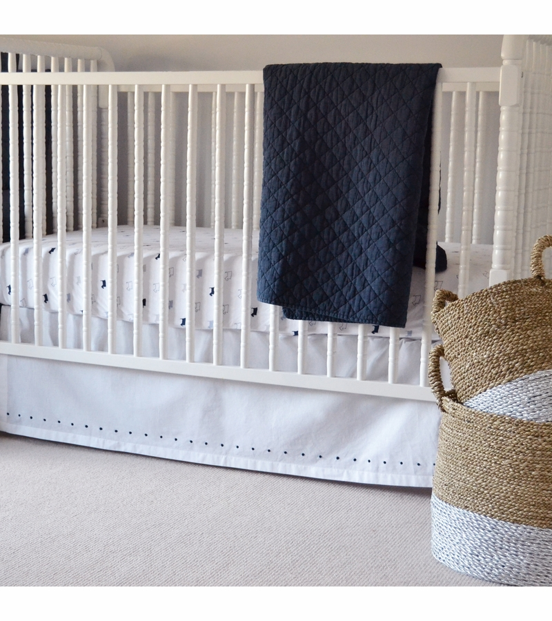 bedding notte bella luxury crib linen baby skirt
