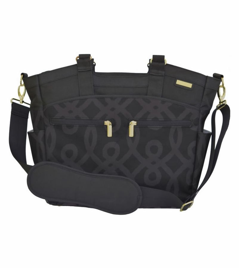 jj cole camber diaper bag black gold. Black Bedroom Furniture Sets. Home Design Ideas
