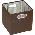"JJ Cole Storage Box 11"" - Cocoa Stripe"