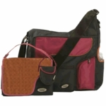 JJ Cole System Bag in Cocoa/Pink