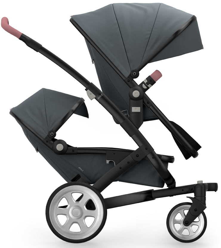 Joolz Geo 2 Tailor Twin Stroller - Black/Grey/Silver/Old ...
